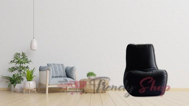 Computer Chair Bean Bag Black