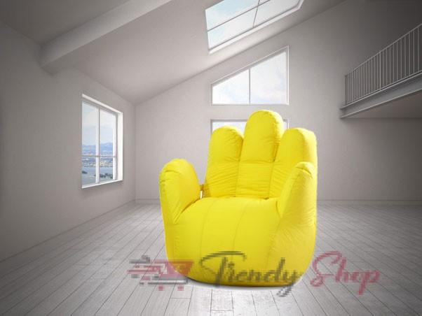 Hand Shape Bean Bag Sofa Yellow