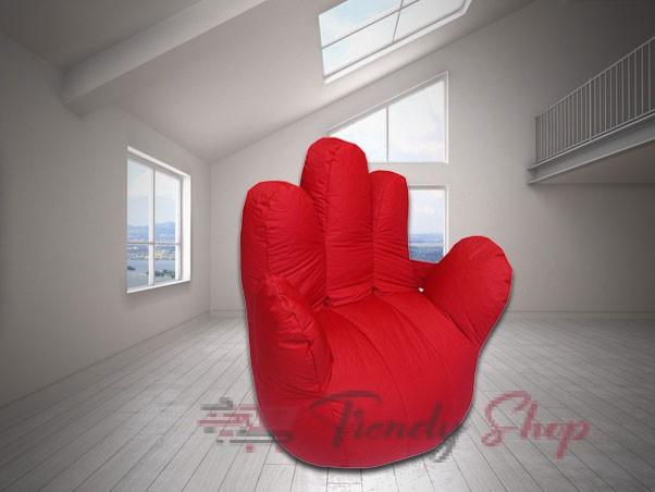 Hand Shape Bean Bag Sofa Red