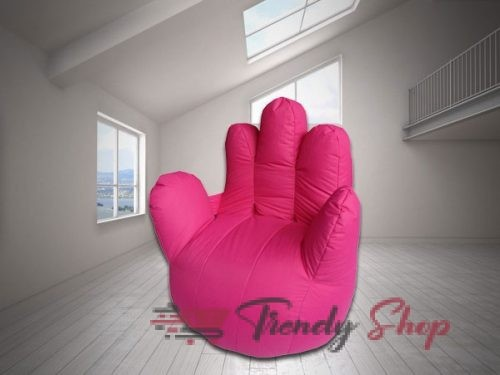 Hand Shape Bean Bag Pink