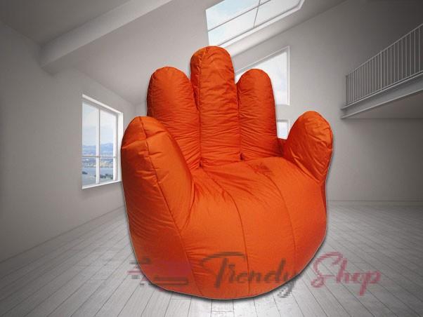 Hand Shape Bean Bag Orange