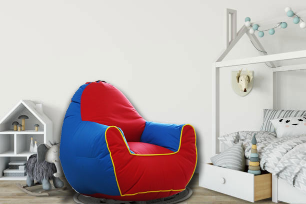 Kids Sofa in Blue and Red