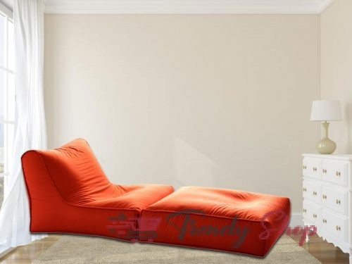 Sofa cum Bed Bean Bag Orange