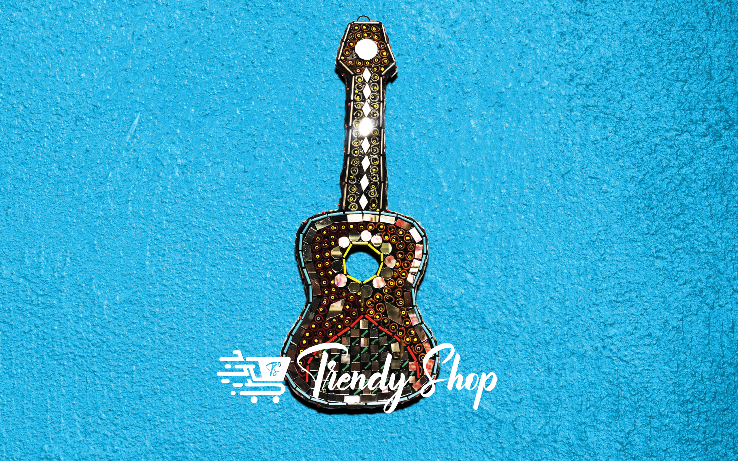Guitar Shape Handmade Key Hanger