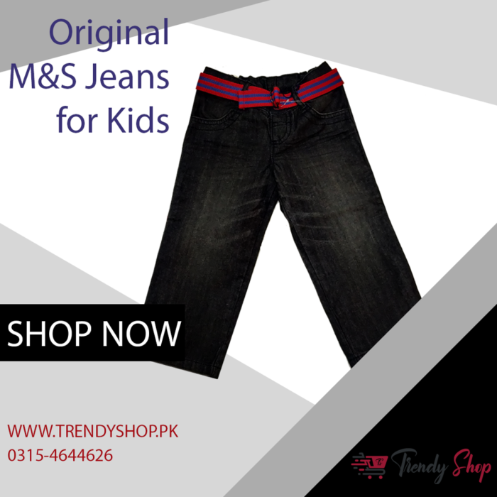 Marks & Spencer Black Jeans for Kids in Pakistan