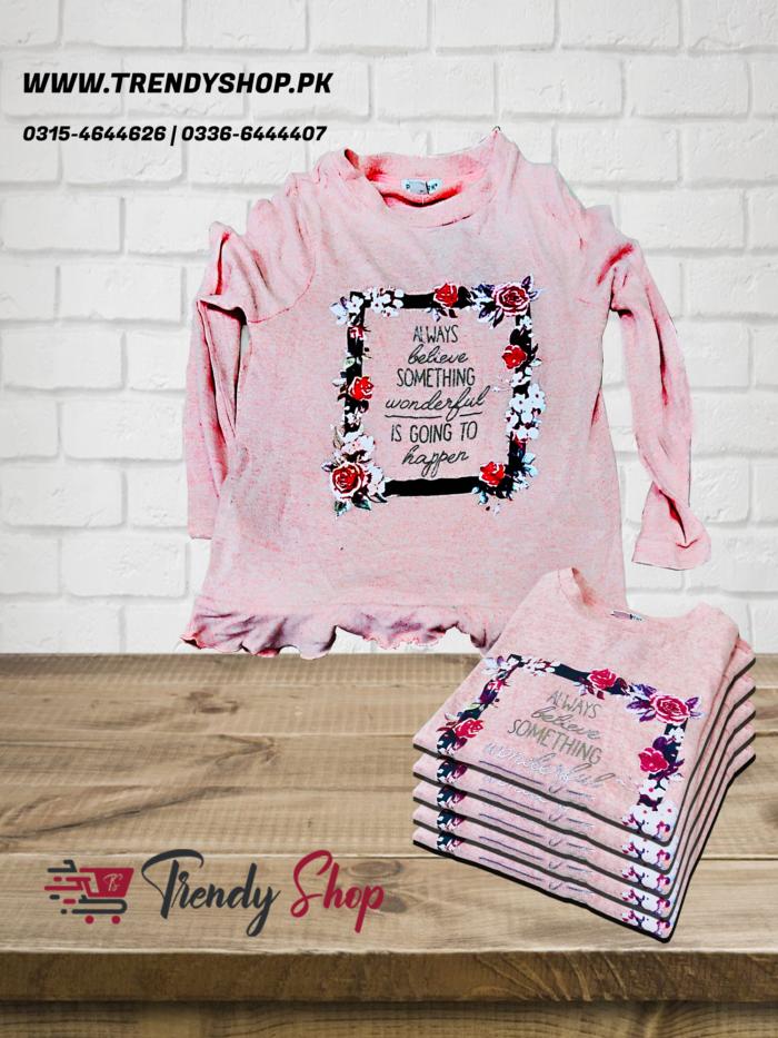 Imported Primark Pink Full Sleeves TShirt in Pakistan
