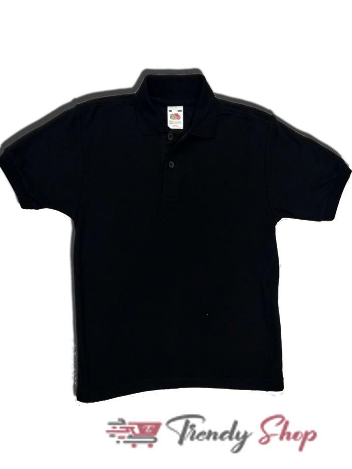 Black Polo T-Shirt for Kids