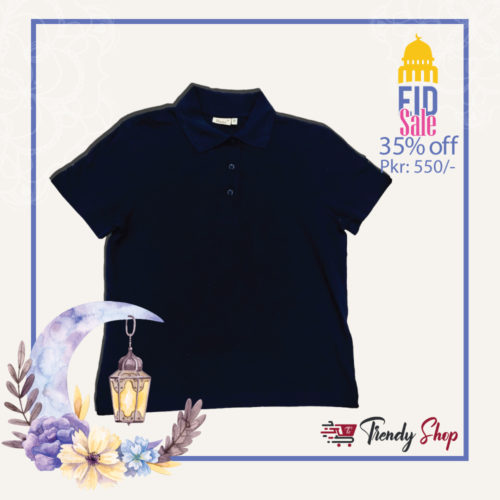 Navy Blue Polo T-Shirt for Kids